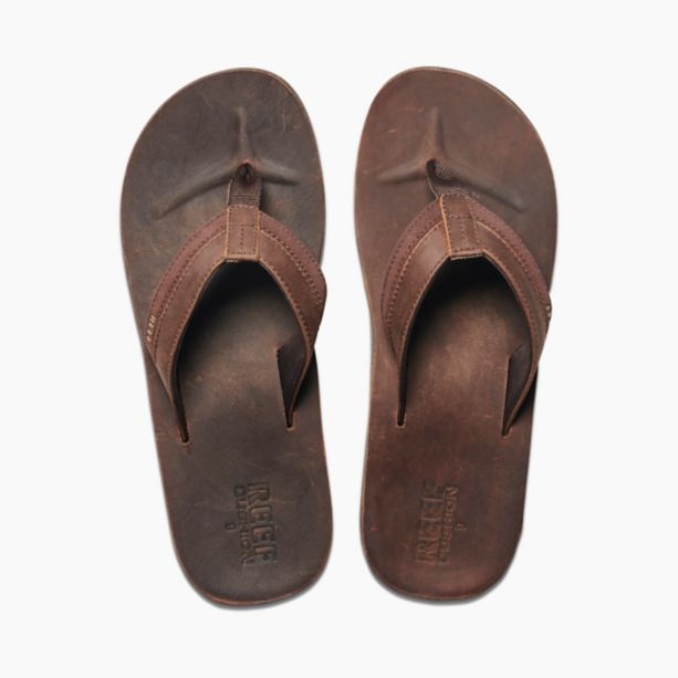 Reef Leather Contoured Cushion Sandal Chocolate