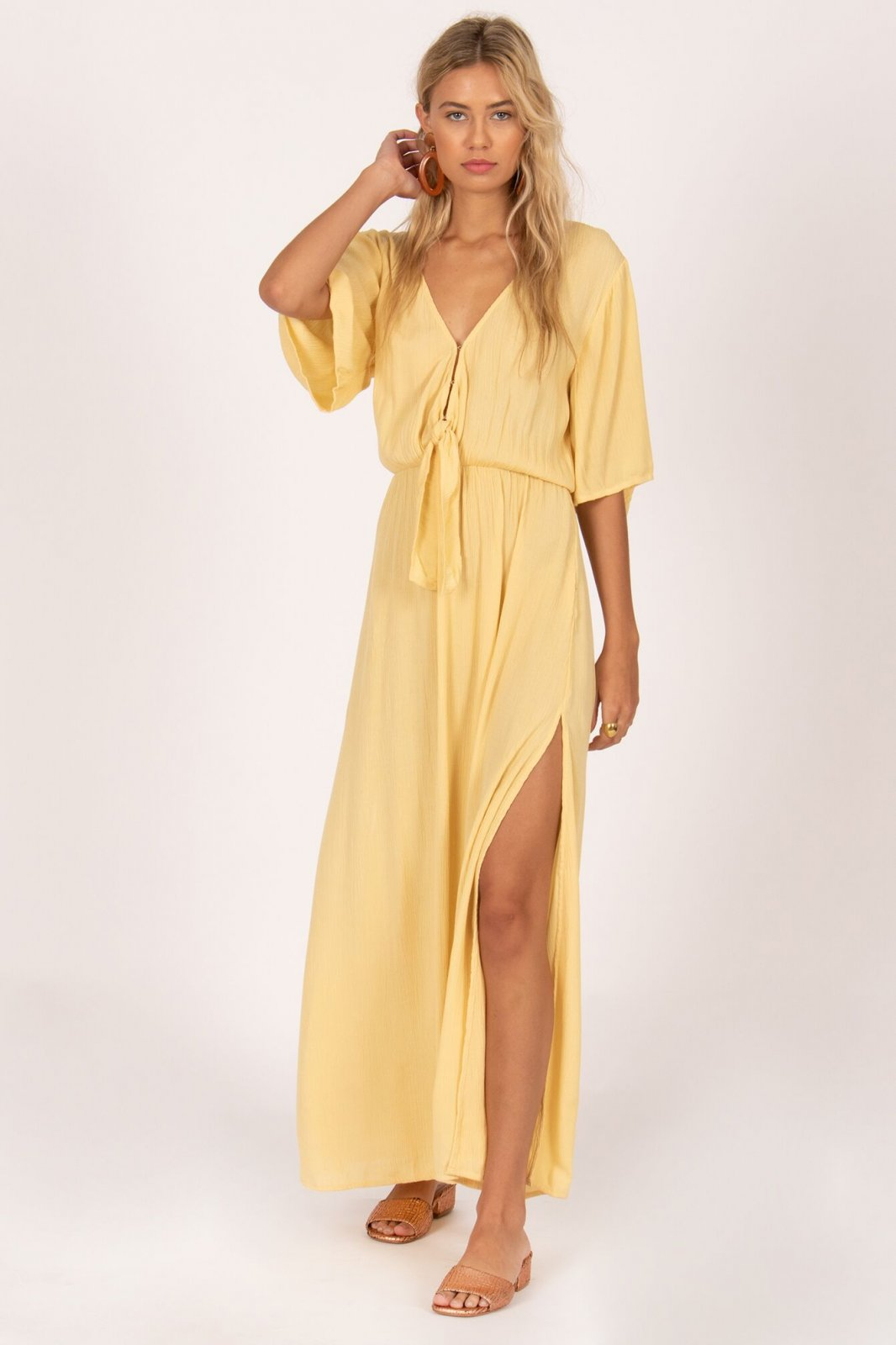 Amuse Society Lemongrass Maxi Dress Ginger