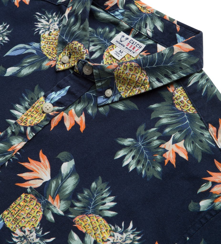 Catch Surf Louie Shortsleeve Woven Navy