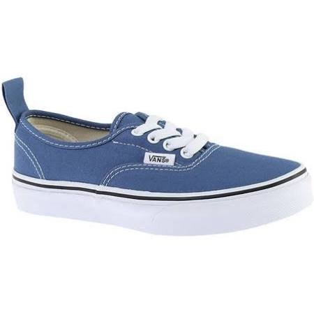 Vans Youth Authentic Elastic/(Elastic Lace) Navy/ True White