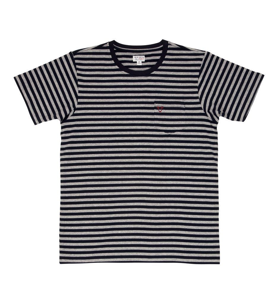 Catch Surf Lance Striped Tee Navy/Grey