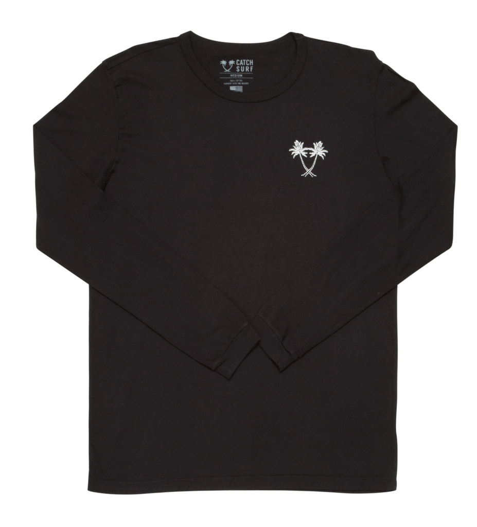 Catch Surf Heritage Longsleeve Tee Black