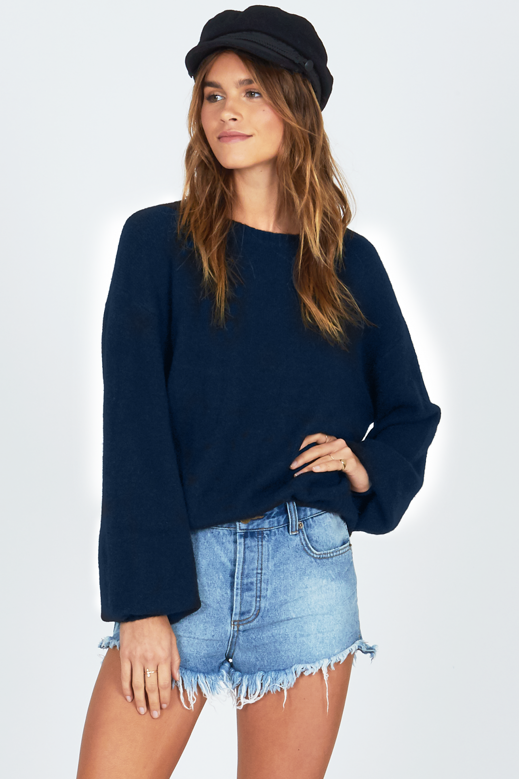 Amuse Society Rooftop View Sweater Deep Navy