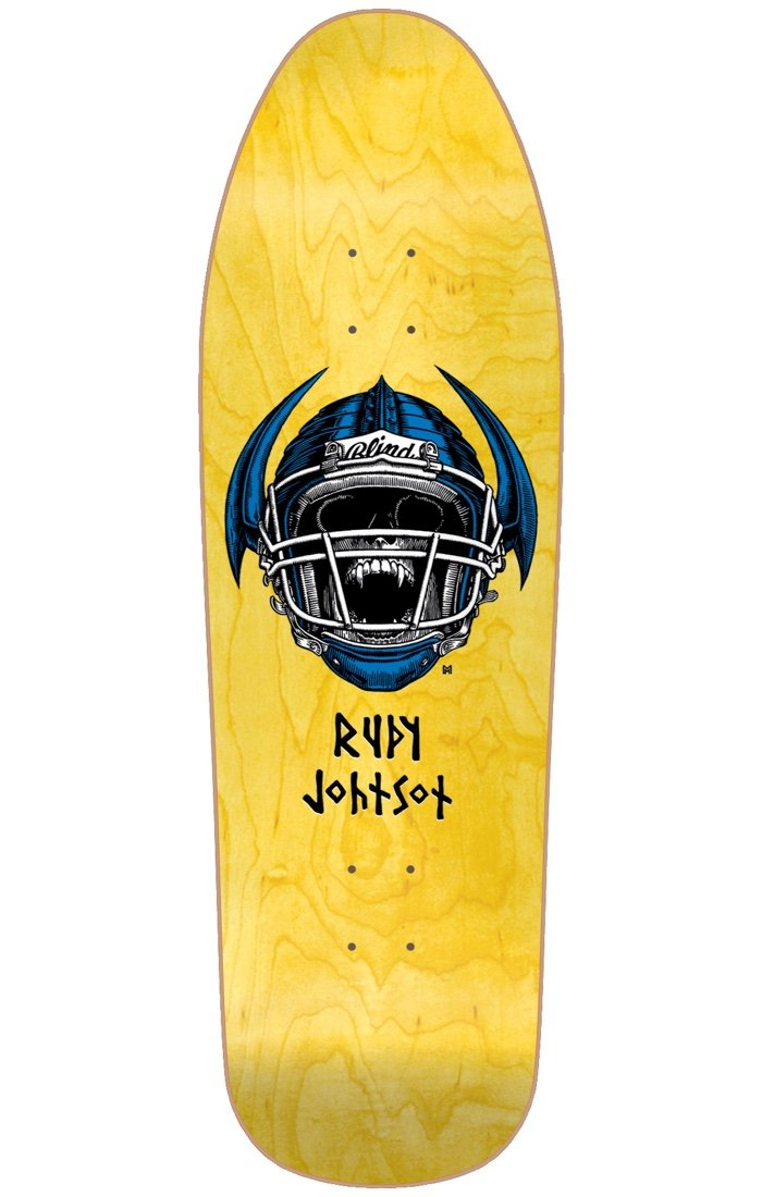 Blind Johnson Jock Skull Reissue Deck Screen Printed