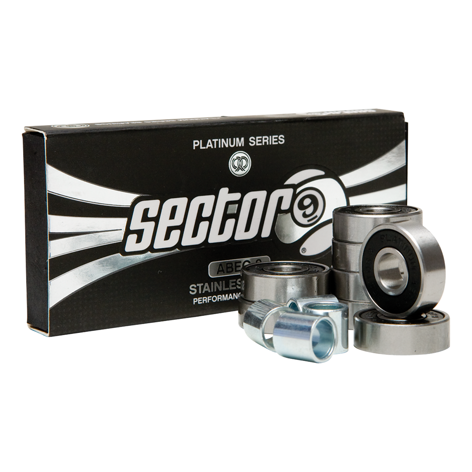Sector 9 Platinum Stainless Steel Bearing 8 pack