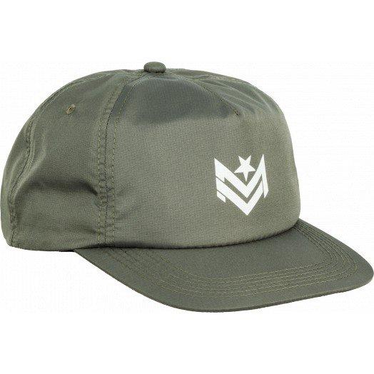 Mini Logo Chevron Snapback Cap Ripstop Army Green