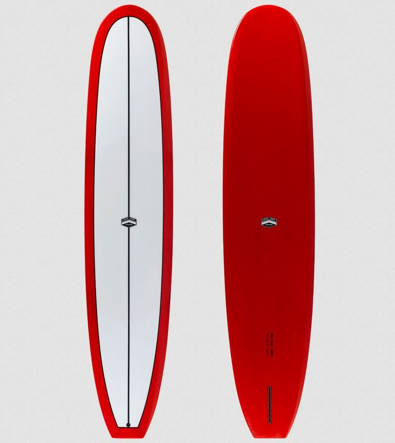 CJ Nelson The Sprout Thunderbolt Red Longboard