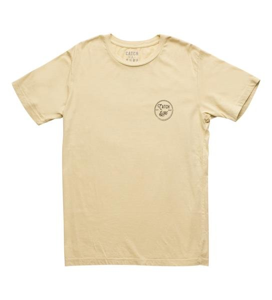 Catch Surf Stamp Logo Tee Vintage Yellow