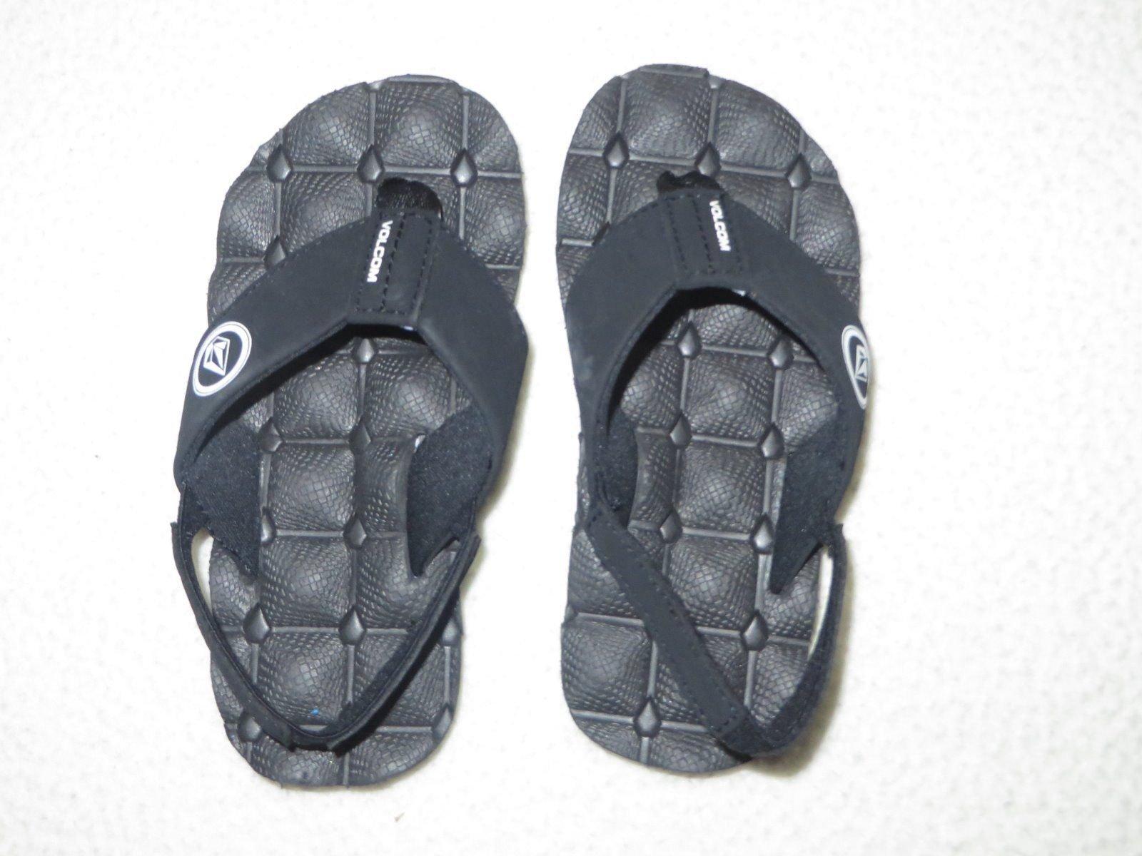 Volcom Boys Recliner Sandal Black/White