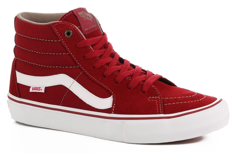 0b47515194e Vans Sk8-Hi Pro Shoe Red Dahlia White - 190287041305