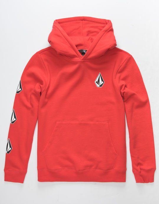 Volcom Boys (8-14) Deadly Stone Hoodie Spark Red