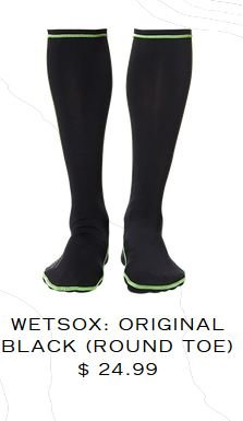 Wetsox Originals Round Toe Bootie Liner Black