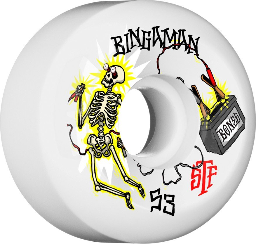 Bones STF V5 Bingaman Zapped 53mm Wheel Set