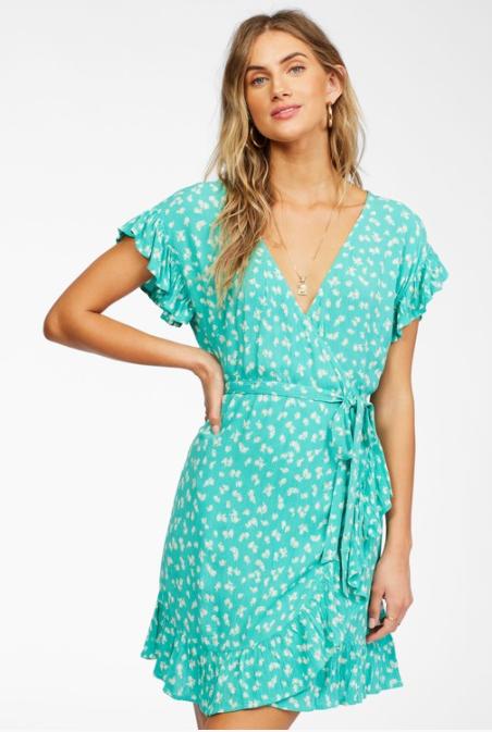 Billabong Wrap And Roll Dress Tropic Shore