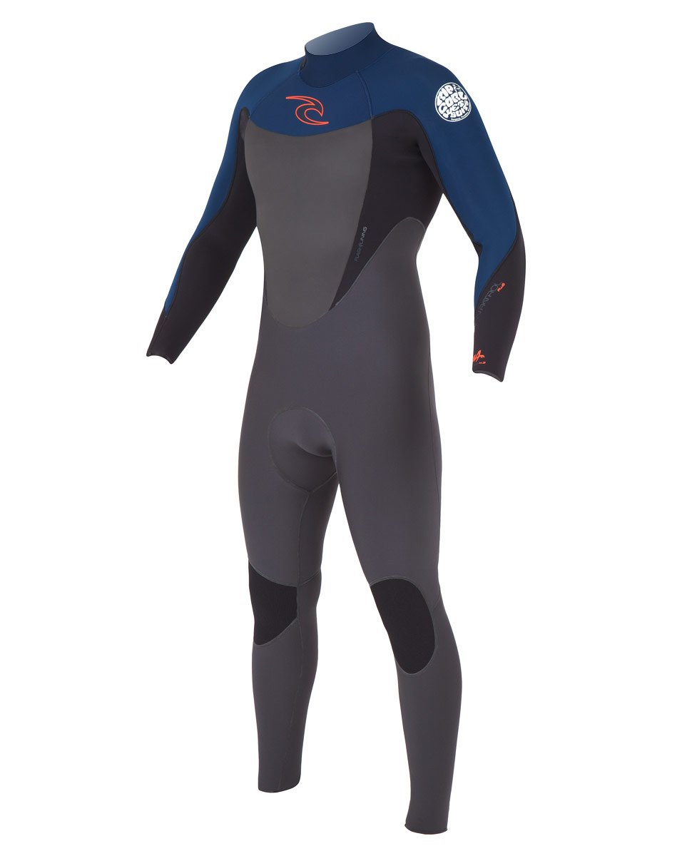 Rip Curl Mens Dawn Patrol Plus Back Zip 3/2 Full Suit Navy