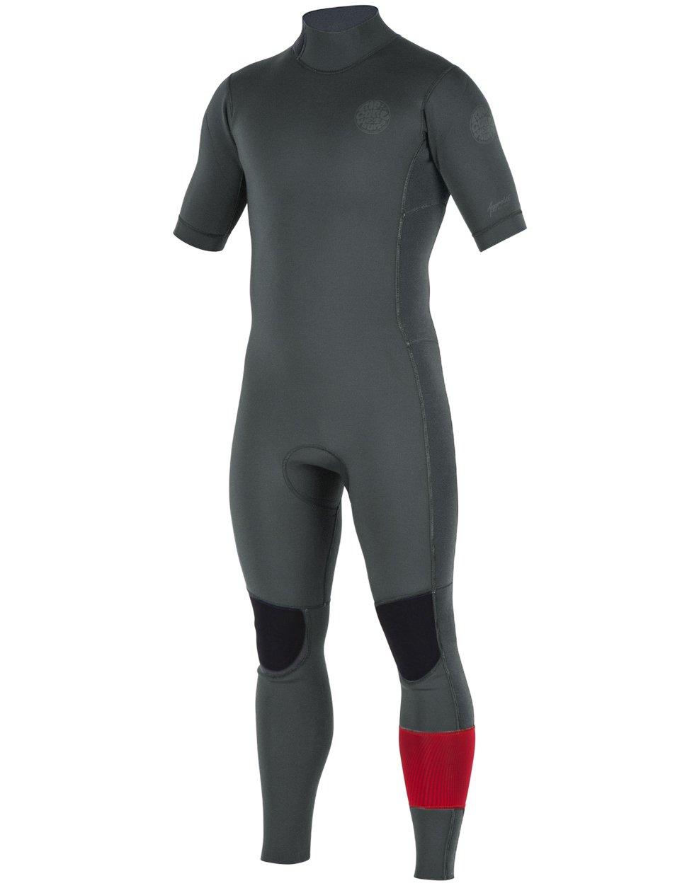 Rip Curl Mens Aggrolite S/S Full Back Zip Wetsuit Charcoal S'19