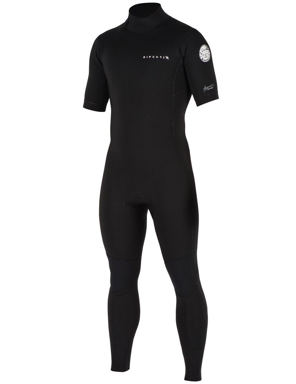 Rip Curl Mens Aggrolite S/S Full Back Zip Wetsuit Black S'19
