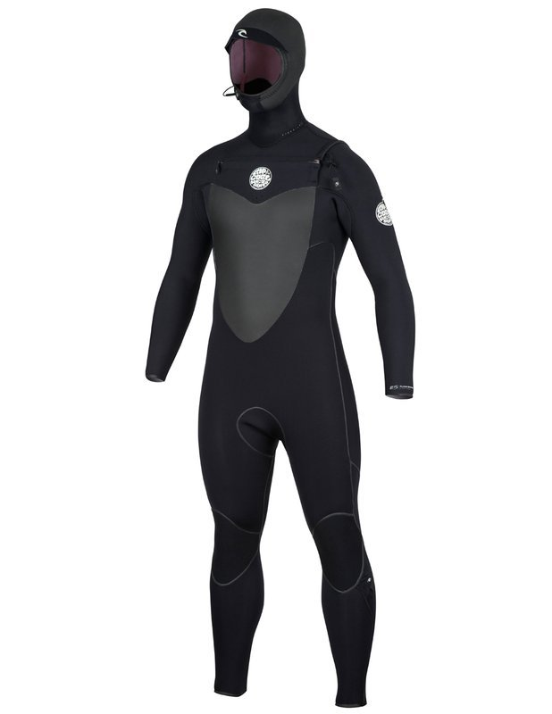 Rip Curl Flash Bomb 4/3 Hooded Fullsuit Black F18