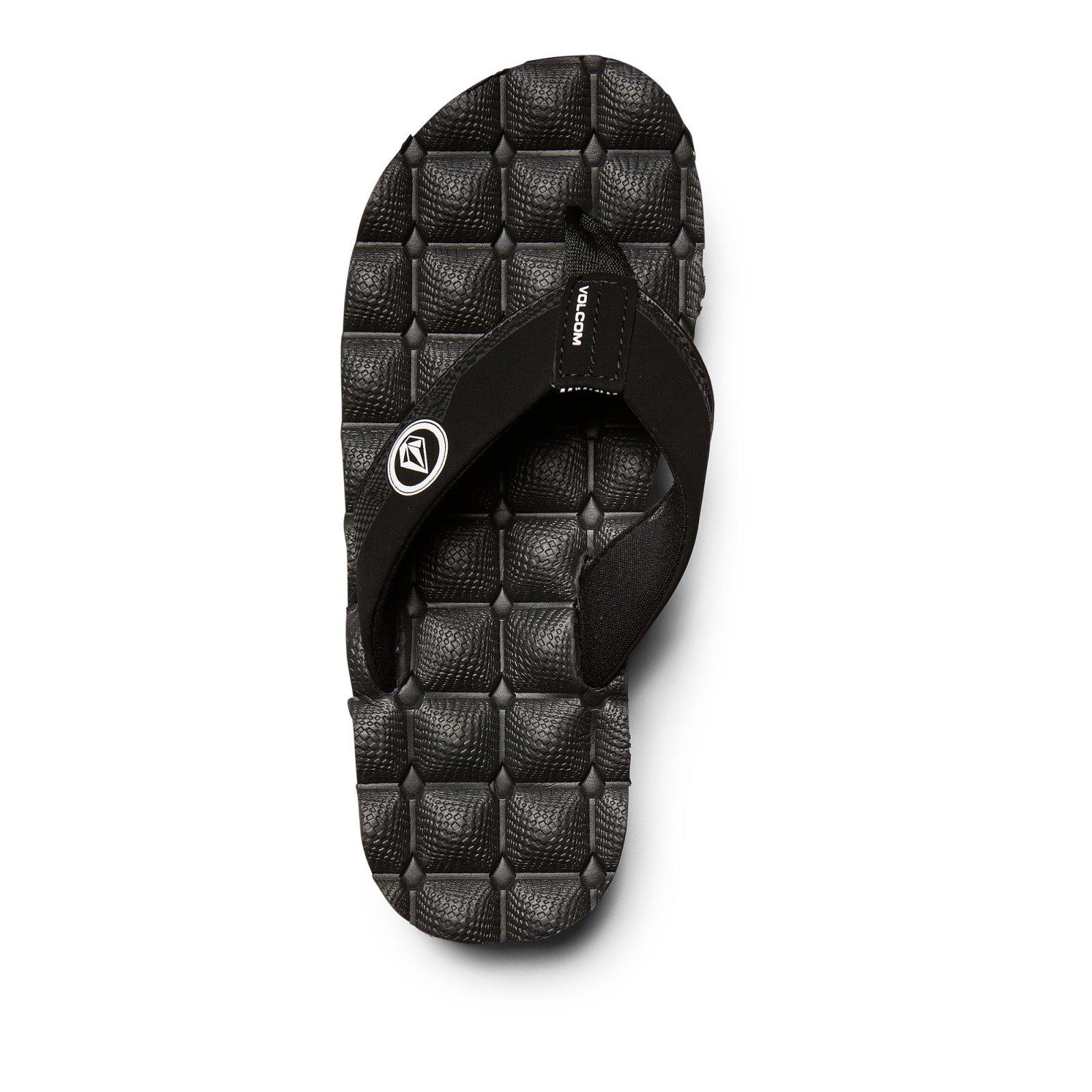 Volcom Recliner Big Youth Sandal Black White