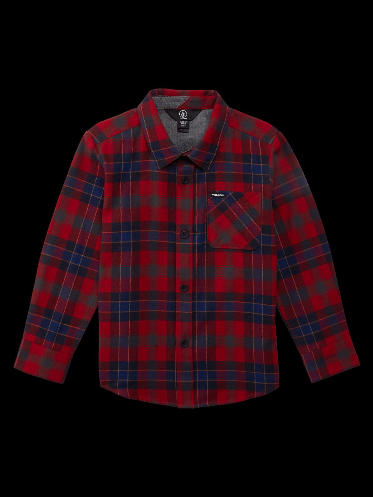 Volcom Boys (2-7) Caden Plaid Shirt Engine Red