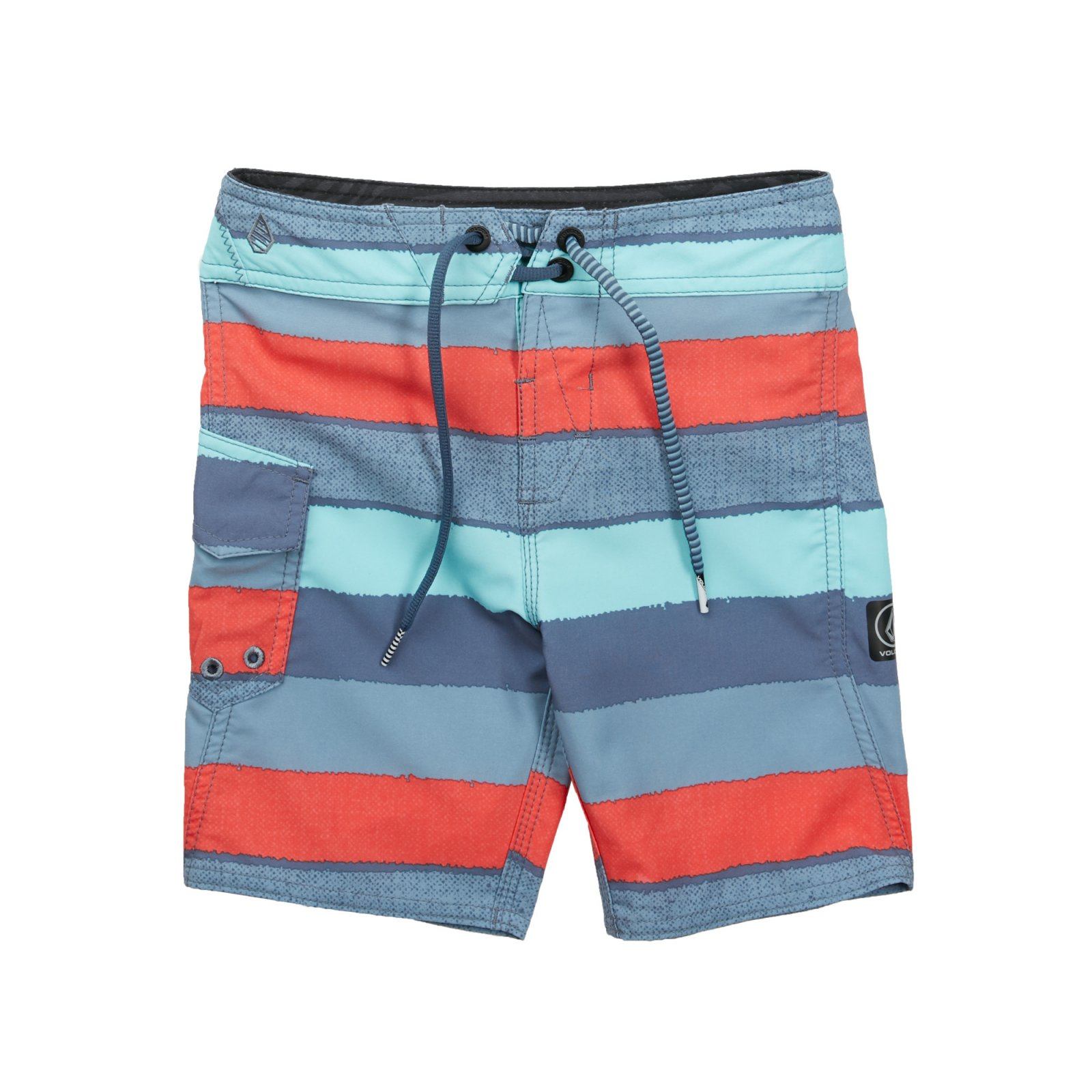 Volcom Boys (2-7) Magnetic Liney Mod Boardshort Wrecked Indigo
