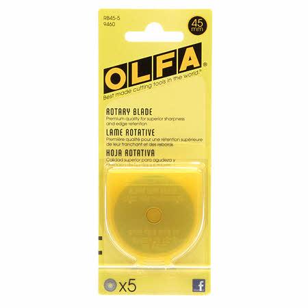 Olfa Rotary Blade 45mm 5pk