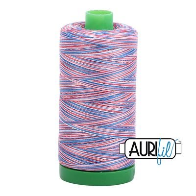 Aurifil Variegated 40wt 1140-3852 Liberty