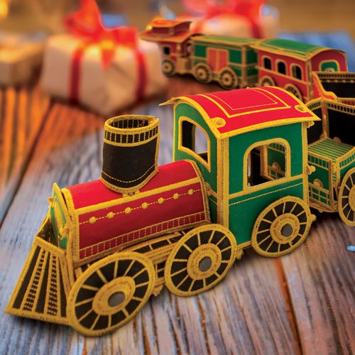 Freestanding Lace Holiday Train Set CD