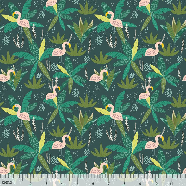 Junglemania - Flamingo - Teal