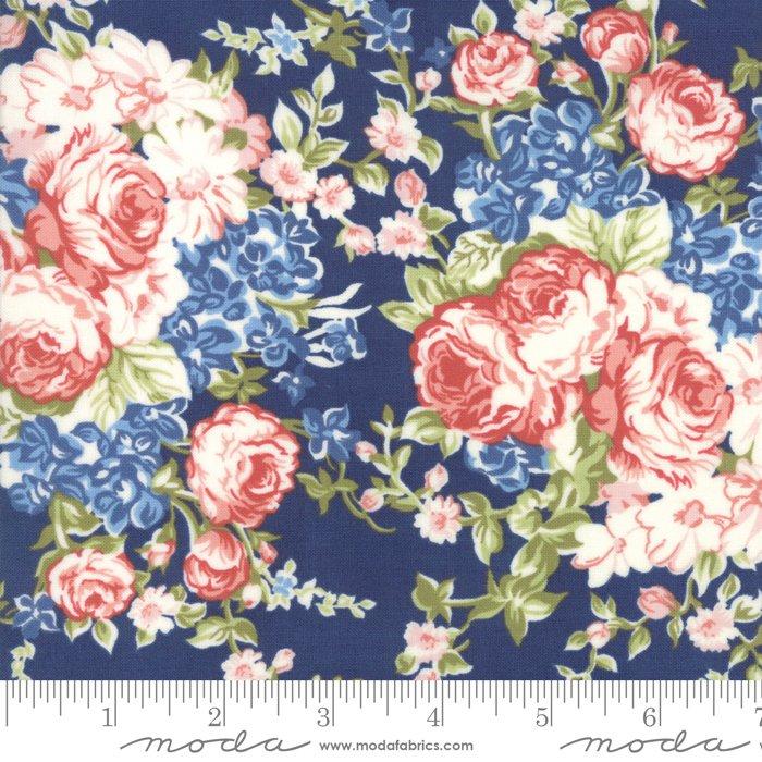 Mackinac Island - Faded Roses - Navy