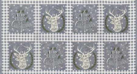 Hearthside Holiday - Christmas Panel - Slate Grey