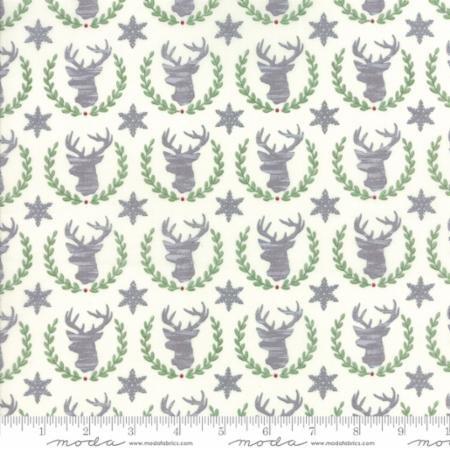 Hearthside Holiday - Laurel Deer - Snowy White