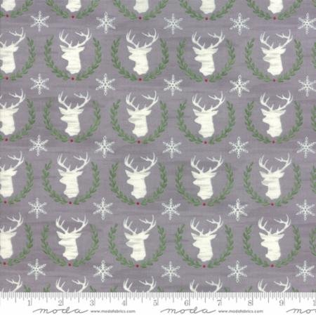 Hearthside Holiday - Laurel Deer - Slate Grey