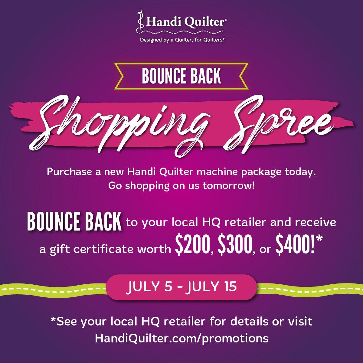 Handi Quilter Shopping Spree