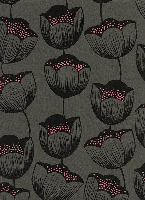 Magic Forest - Magic Tulips - Grey - Rayon