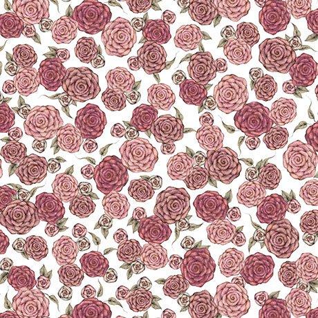 All For Love - Roses - White