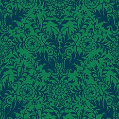 Zola - Damask - Green/Navy