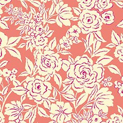 Zola - Etched Floral - Coral