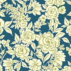Zola - Etched Floral - Navy