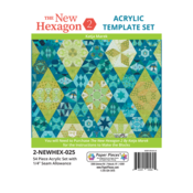 New Hexagon 2: Windowed Template Set with 3/8 seams