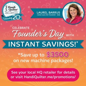 Handi Quilter Back to School Event