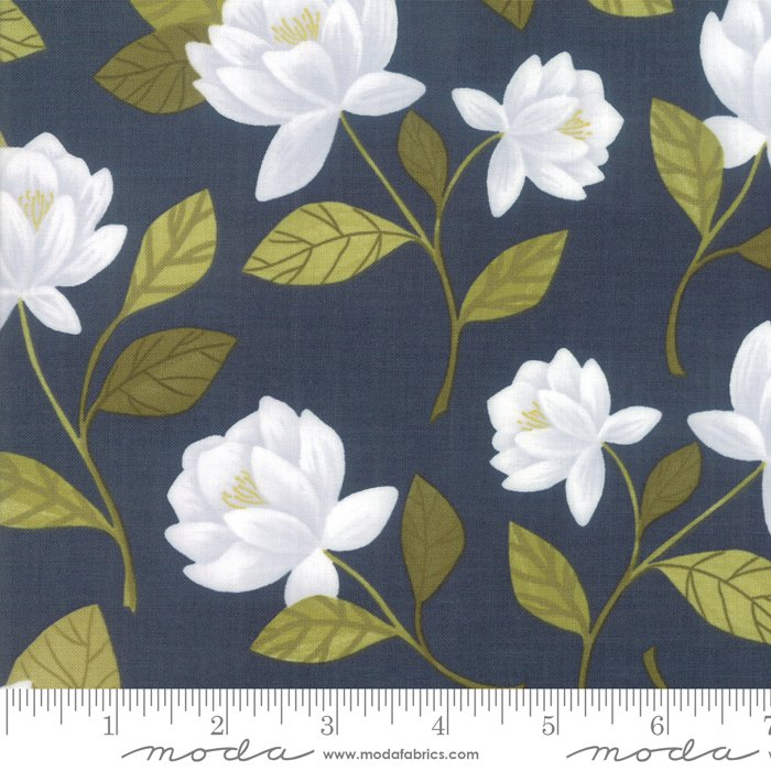 Goldenrod - Raliegh Floral - Navy