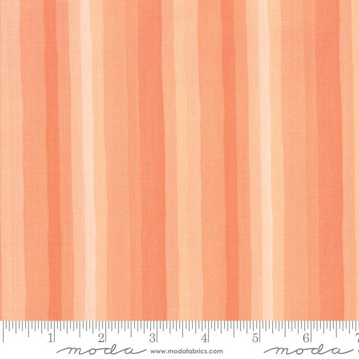 Goldenrod - Gradient Stripes - Coral