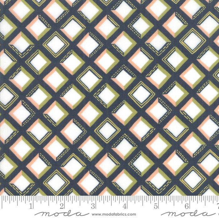 Goldenrod - Tiles - Navy