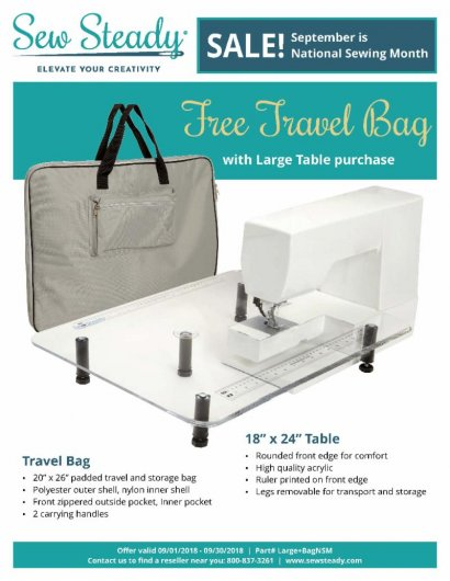 Sew Steady Large Table and Free Bag