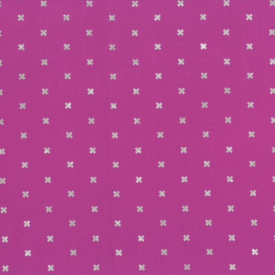 Cotton + Steel Basics -XOXO -Plummy