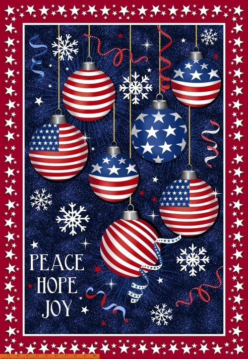 Christmas USA - Peace Hope & Joy Panel