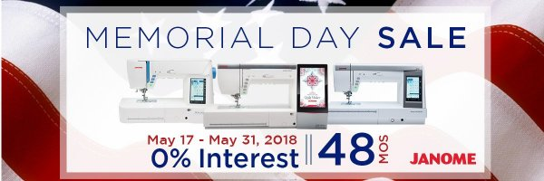 Janome Memorial Day Financing