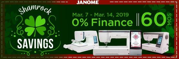 Janome Shamrock Deal