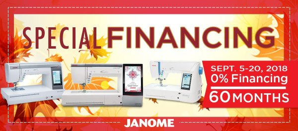 Janome Special Financing